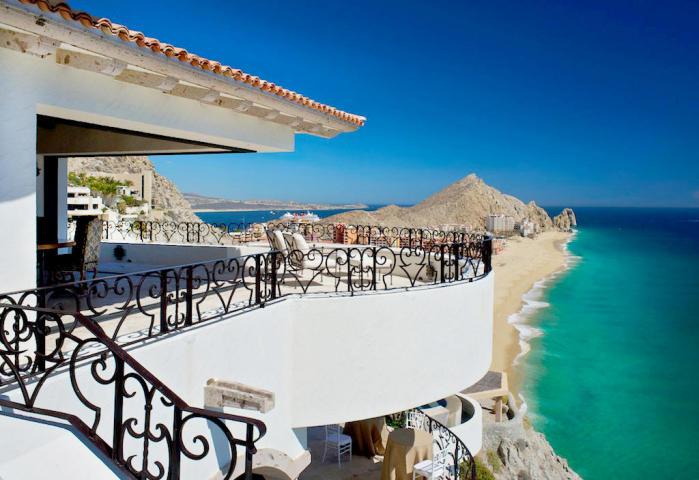 A view of the beach from Villa La Roca