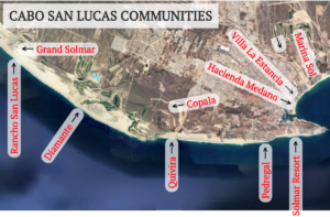Map of communities in Cabo